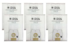 6PK Replacement Cloth Vacuum Bags for Simplicity Canister Vacuums, Type H, Part No. SHH-6