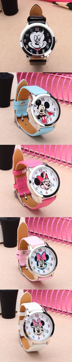 Mickey&Minnie Mouse Hello Kiity cartoon watch women watches kids quartz wristwatch child boy clock girl relogio infantil $4.6
