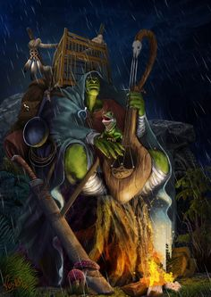 Orc Bard by Musashi-dono this is a great concept