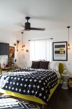 Jaclyn's Cozy Kitschy Silver Lake Home // love the hanging triangle baskets in the left corner