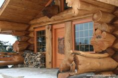 Special Features: Wood Carvings ! Great log ends