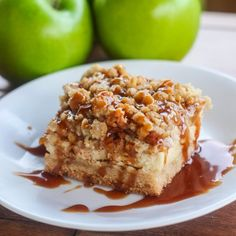"""A fall favorite, these """"Caramel Apple Cheesecake Bars"""" are made entirely from scratch. Right down to the caramel sauce!"""