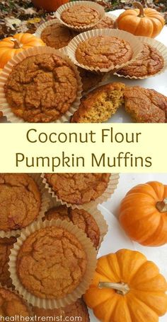 Paleo Pumpkin Muffins – Made with Coconut Flour, gluten free and dairy free
