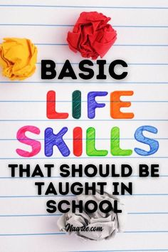 Teaching life skills to kids is important to help them function as an adult. So what basic life skills, life skills lessons and life skills activities do you need in a life skills curriculum? This life skills list includes practical life skills, functional life skills, and important life skills to learn #lifeskills #adulting Life Skills Lessons, Life Skills Activities, Teaching Life Skills, List Of Skills, Skills To Learn, Learning Resources, Personal Development Books, Self Development, Exam Preparation Tips