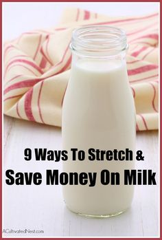 With the cost of a gallon of milk as high as $4 in some areas, it is no wonder people are looking for some relief! If you need to stretch your milk supply out and find frugal ways to save money on it, take a look these great tips for stretching and saving money on milk!