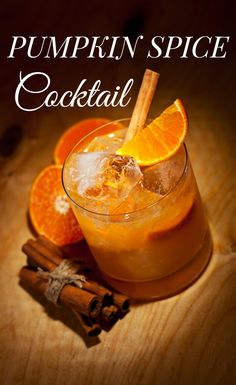 You don't need a pumpkin spice latte to warm you up at your next party. Try this perfect fall cocktail. #HappyHour