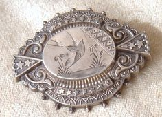 Victorian Aesthetic Movement Sterling Silver Bird by MetalCorsetII, $85.00