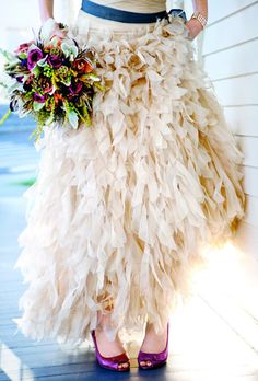 """""""There was something imperfectly perfect about the unevenchiffon pieces."""" - By Aisle Say : Brides"""