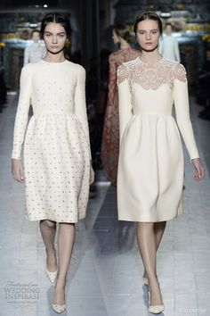 Lovely long sleeved short dresses – Le Pré du Levant wool dress embroidered with country seed flowers and Le Verger.