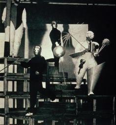 1920's--German--Oskar Schlemmer--Stair Joke, a pantomime.
