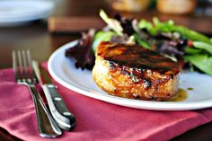Grilled Maple Honey Pork Chops from simply scratch
