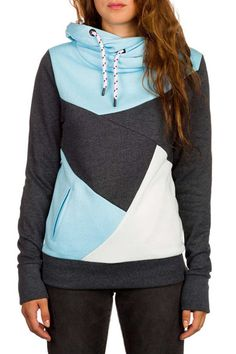 nice Chic Hooded Long Sleeve Color Block Pocket Design Hoodie For Women Cool Outfits, Fashion Outfits, Flirt, Casual, Cool Hoodies, Womens Fashion Online, Ladies Dress Design, Long Sleeve, Womens Hoodie