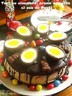 » Tort EgipteanCulorile din Farfurie Dessert Recipes, Desserts, Nutella, Sweet Tooth, Food And Drink, Birthday Cake, Pudding, Avocado, Tarts