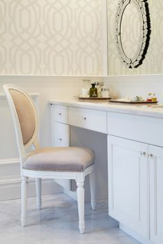 Light Gray Vanity Chair : Master Bathroom Vanity Chair Ideas on Pinterest French Chairs, Vanities and Venetian Mirrors