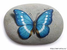Художественная роспись. Бабочки на камне (1) (500x374, 95Kb)