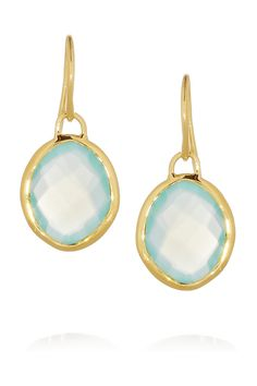 Monica Vinader | Nugget 18-karat gold-vermeil chalcedony earrings