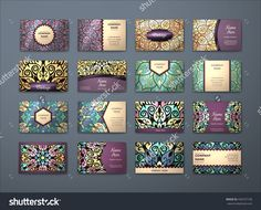 Vector Vintage Visiting Card Big Set. Floral Mandala Pattern And Ornaments. Oriental Design Layout. Islam, Arabic, Indian, Ottoman Motifs. Front Page And Back Page. - 430167190 : Shutterstock