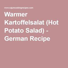Warmer Kartoffelsalat (Hot Potato Salad) - German Recipe
