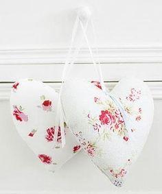 Pretty,vintage,floral heart pillows