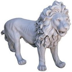 25-1/2 in. Regal Lion of Grimshaw Manor Statue by Design Toscano. $225.00. Cast in quality designer resin. Stone finish. Design Toscano exclusive. Add the subtle sophistication of this magnificent sculptural icon to your own home or garden. Muscular, three-foot-long body poised in mid-stride, this powerful lion is the embodiment of strength and courage. Unparalleled as classic art, our 35 lb. quality designer resin, stone-finished sculpture is perfect flanking ...