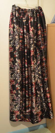DIY silk maxi skirt tutorial