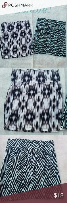 ????Bundle! 2x Charlotte Russe stretch skirts XL This is a bundle of 2 stretchy printed skirts from Charlotte Russe. Both skirts are size XL and have only been worn once. Excellent condition. Charlotte Russe Skirts Mini