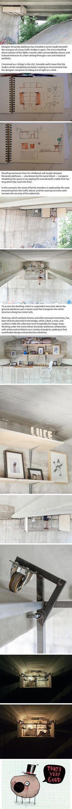 Spanish Designer Builds A Secret Studio Beneath A Busy Bridge In Valencia