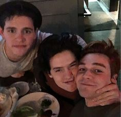 Cuties  Casey Cott (Kevin), Cole Sprouse (Jughead) and KJ Apa (Archie)