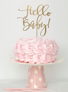 Baby shower cake topper gold gold baby shower cake top