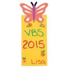Help children remember their Journey Off The Map 2015 VBS experience with these cute little butterfly bookmarks they decorate themselves.