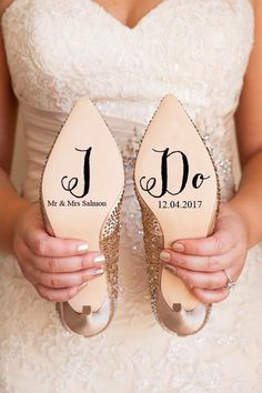 Personalised Wedding Shoe Vinyl Sticker Decal With Name & Date Decorations Bridal shoe Bridesmaid I Do Etc Gorgeous personalised wedding shoe decal featuring I Do & Mr & Mrs. Converse Wedding Shoes, Wedge Wedding Shoes, Wedding Shoes Bride, Wedding Boots, Bride Shoes, Wedding Day, Wedding Flowers, Unique Wedding Shoes, Wedding Garters