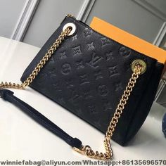 c76d7f6e010d Louis Vuitton Embossed and Grained Calf Leather Surene BB Bag 2018 Black  Louis Vuitton Bag
