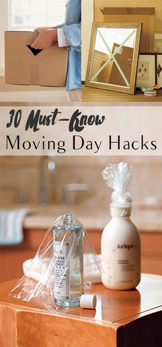 30 Must-Know Moving Day Hacks Moving Day, Moving Tips, Moving House, Moving Hacks, Moving Checklist, Hacks Diy, Home Hacks, Cleaning Hacks, Home Crafts