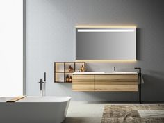 Download the catalogue and request prices of Eos | vanity unit By edoné by agorà group, single wall-mounted vanity unit with drawers, eos Collection