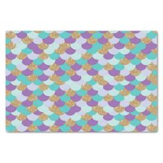 Mermaid Scales Birthday Party Tissue Paper