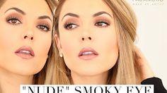 Smoky Nude Makeup / Maquillaje estilo smoky eye con colores neutros - YouTube