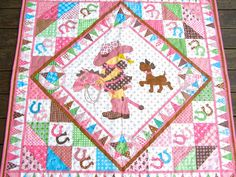 Cowgirl Quilt Baby Girl Quilt Baby Girl by BlackTulipQuilts, $130.00
