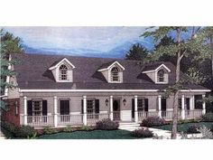 Eplans Country House Plan - Country Charmer - 2172 Square Feet and 3 Bedrooms from Eplans - House Plan Code HWEPL14657