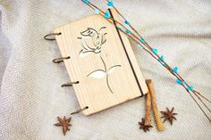 Personalized wooden notebook А6. Notebook in a wooden от DecoLazer