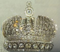 The most Beautiful crown I've even seen.  The Empresses Crown, from the Russian Royal Jewels collection.