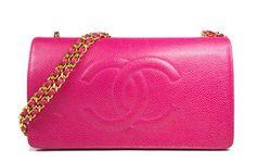 Chanel Wallet On Chain Woc In Fuchsia Caviar Skin