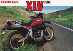 HONDA XLV750R (1986) ad.