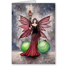 Christmas Fairy Card by Molly Harrison | Zazzle