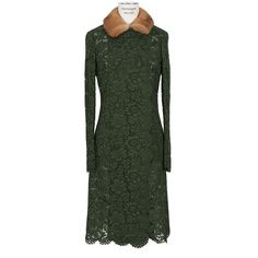 Valentino Green Lace Coat ($4,795) ❤ liked on Polyvore