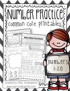 A fun and engaging way to practice the numbers 0-20!  Included in this pack: *Let's Practice the Number Printables for each number 0-20 Students will: Learn a poem for correct number formation for the numbers 0-10. Trace and write the number. Show the number in a tens frame.