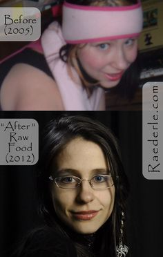 From uncertain and afraid... To confident and happy. Raw food before & after. http://www.raederle.com/