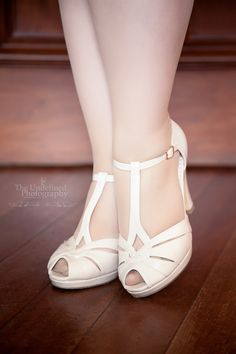 The B.A.I.T Footwear Lacey Heels in Cream from Royal Vintage Shoes is almost…