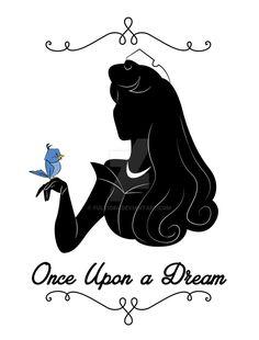 Princess Aurora by Orbria on DeviantArt Disney Diy, Disney Crafts, Disney Fan Art, Disney Pixar, Disney Silhouette Art, Disney Silhouettes, Disney Stencils, Disney Princess Aurora, Disney Kunst
