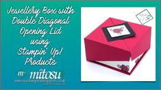 Create your own elegant double diagonal opening lid jewellery box using Stampin' Up! products Welcome to Mitosu Crafts by Barry and Jay ~ Independent Stampin. Diy Craft Projects, Fun Crafts, Paper Crafts, Craft Ideas, Fun Fold Cards, Folded Cards, Surprise Box, Make Your Own Jewelry, Craft Box