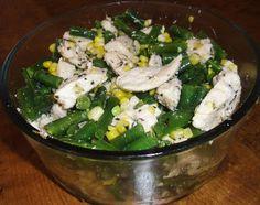 Corn and Green Bean Chicken Salad